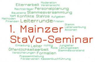 1. Mainzer StaVo-Seminar