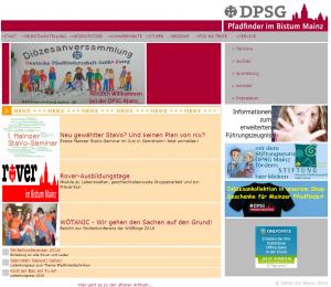 Homepage von 2005 bis 2016