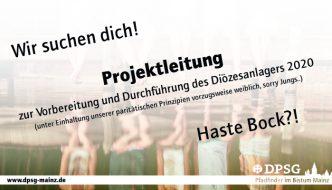 Stellenausschreibung – Ehrenamtliche Projektleitung Diözesanlager '20