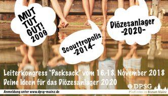 "Leiterkongress ""Packsack"" zum Diözesanlager 2020"